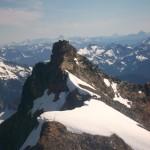 The Sahale summit from the Sahale-Boston ridge